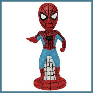 Westland Giftware Mini Bobble Figurine, 5-Inch, Marvel Comics Spider-Man Figurine stands 5-Inch high. Made of ceramic with a bobble head. Official Marvel Comics licensed product. http://theceramicchefknives.com/marvel-gift-ideas-amazing-spiderman/