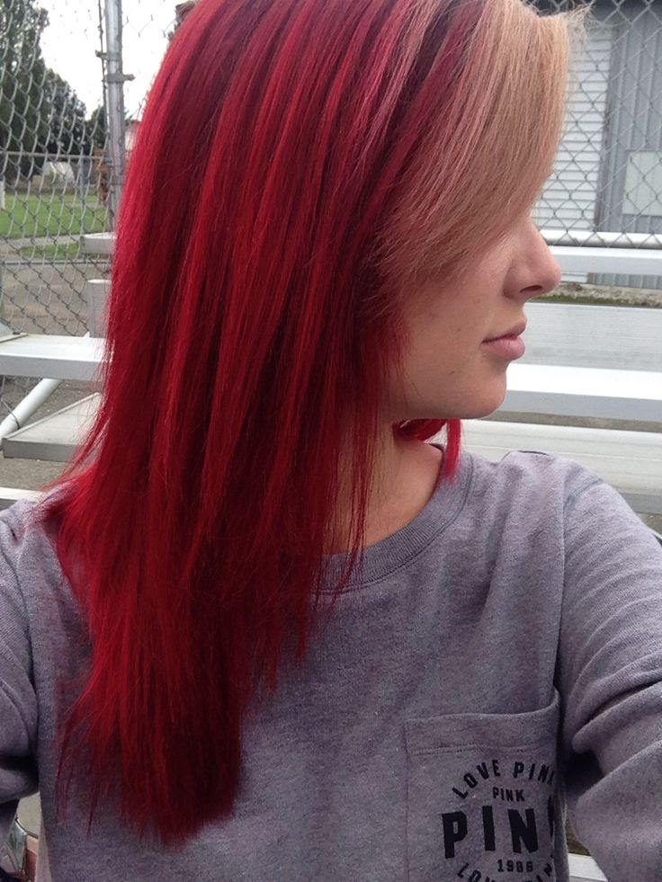bright red hair with blonde bangs. Want this, only with my