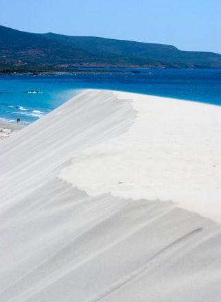 Dune di Porto Pino, #Sardegna da ammirare mentre facciamo il bagno