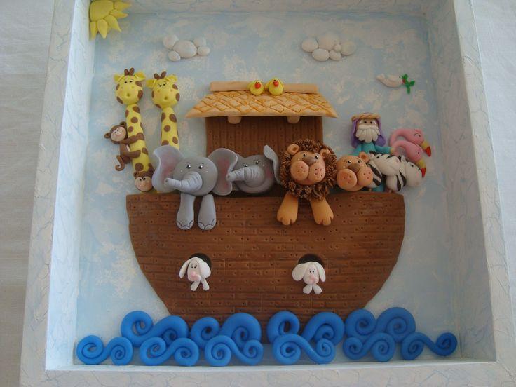 cuadro Arca de Noe en porcelana fría | cuadro Arca de noe | Pinterest