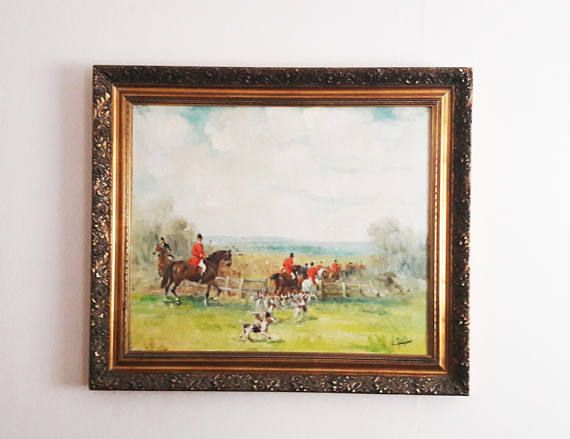 Fabulous Large Original Oil Painting on Canvas of an English