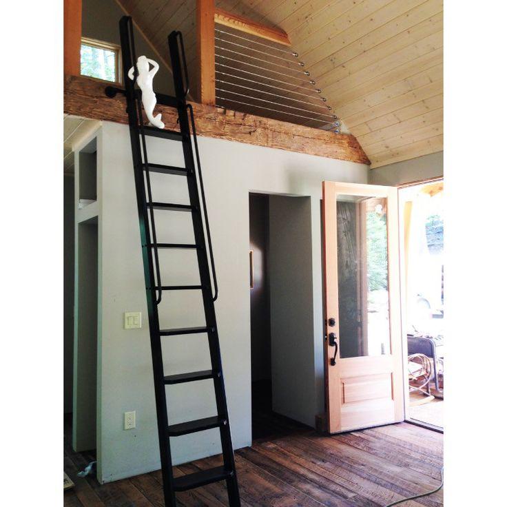 wood ladder, wooden ladder, loft ladder, interior ladder, library ladder, painted ladder, handmade ladder, handcrafted by Artfxwoodworks