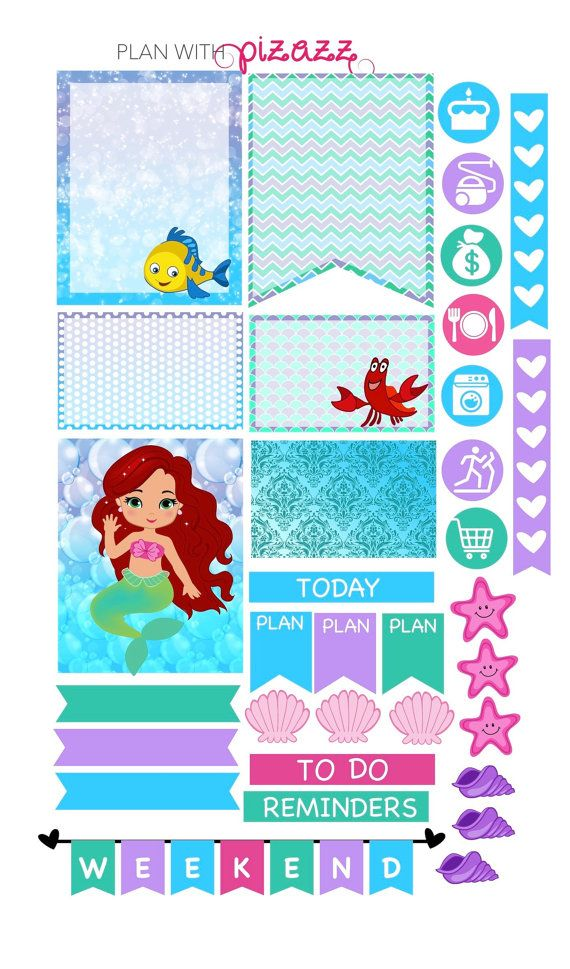 Disney LITTLE MERMAID Inspired Weekly theme by PlanwithPizazz