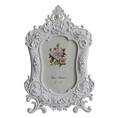 "4"" x 6"" Floral Accents Polyresin Tabletop Picture Frame – USD $ 14.99"