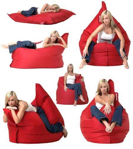 Porn bent over a beanbag can not