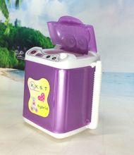 Nk puppe zubehör display möbel waschmaschine wasserspender für barbie puppe haus für monster high puppen beste geschenk(China (Mainland))