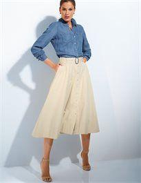 Schlichte Hemdbluse im Jeans-Style #madeleinefashion