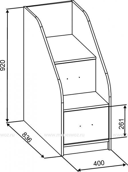 Детская двухъярусная кровать Дуэт-8 орех экко/ваниль - производитель Славмебель
