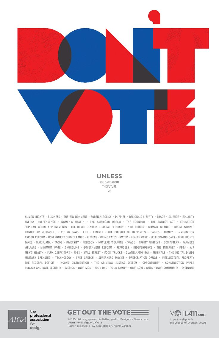 Poster design business - Milton Glaser Paula Scher And Others Contributed Aiga S Get Out The Vote Campaign With Incredible Poster