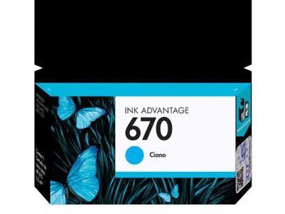 Cartucho de Tinta HP Ciano 670 - Original com as melhores condições você encontra no Magazine Mcostadesouza. Confira!