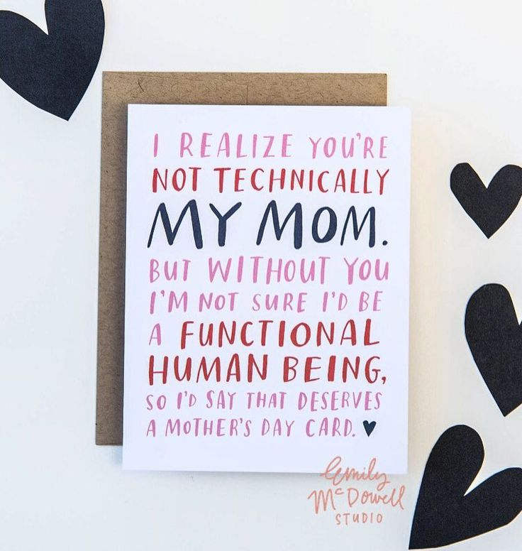 Our Mother's Day order deadline for standard shipping is April 26th! By my calculations that's 4 days from now. #math How is that even possible? Shop link in profile for this & all our other Mother's Day cards and gifts for moms stepmoms aunts grandmas godmothers and mom-figures. by emilymcdowell_