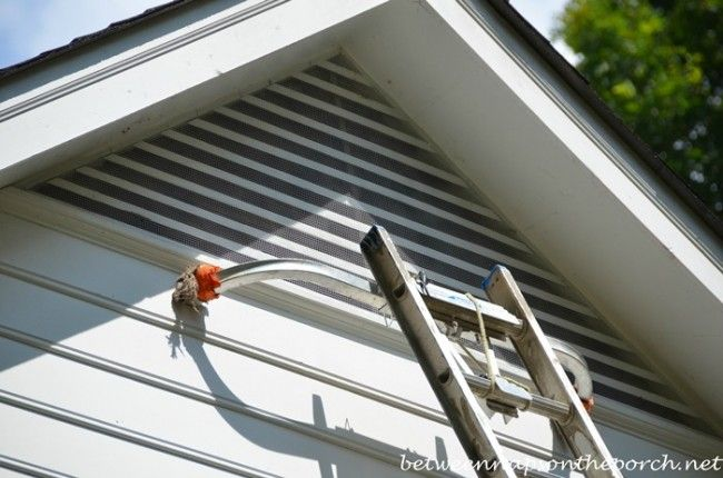 Keep Bats Critters From Entering Attics With Screening Attic Vents Gable Window Gable Vents