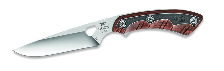 """Buck Knives 539RWS Open Season Small Game Fixed Blade Knife. 4-1/4"""" Drop Point Blade made with S30V Steel. We consider this the absolute best steel blade available. It has fantastic edge retention and high ductility combined with corrosion resistance. Overall length 7-5/8"""" Weight 3 oz. This blade is full bellied with a strong, thick point for heavier tasks. It can also be used as a general work knife. The top of the blade drops down toward the tip, which minimizes accidental puncturing…"""