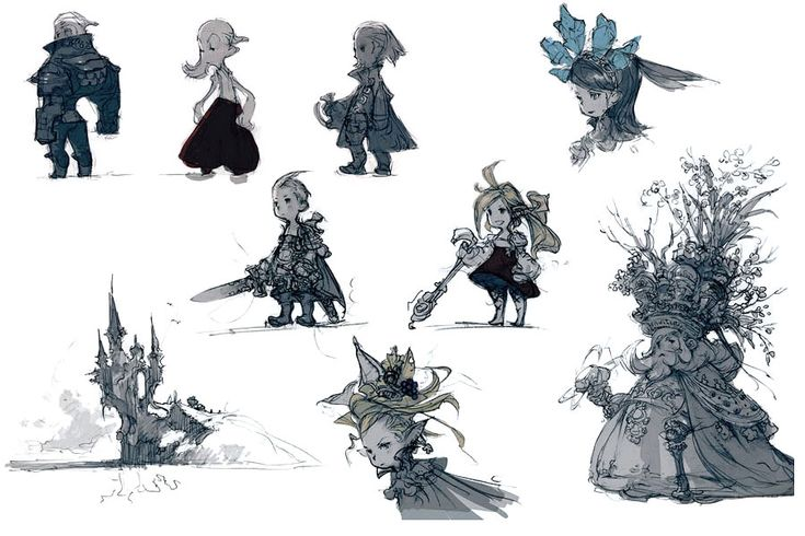 Final Fantasy: The 4 Heroes of Light Art Gallery