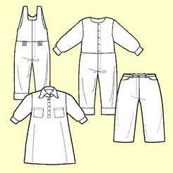 Moldes de ropita de bebe de 1 a 2 años   Moldes de Ropa y Sistemas de Diseño y Patronaje