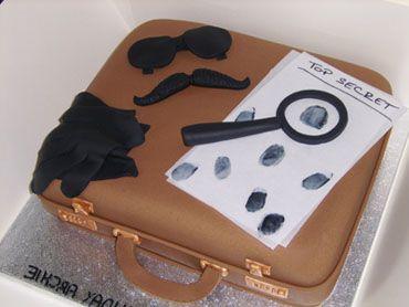 Secret Agent Birthday Cake by Tortebella   Spy party   Pinterest   Birthday cakes, Birthdays and ...