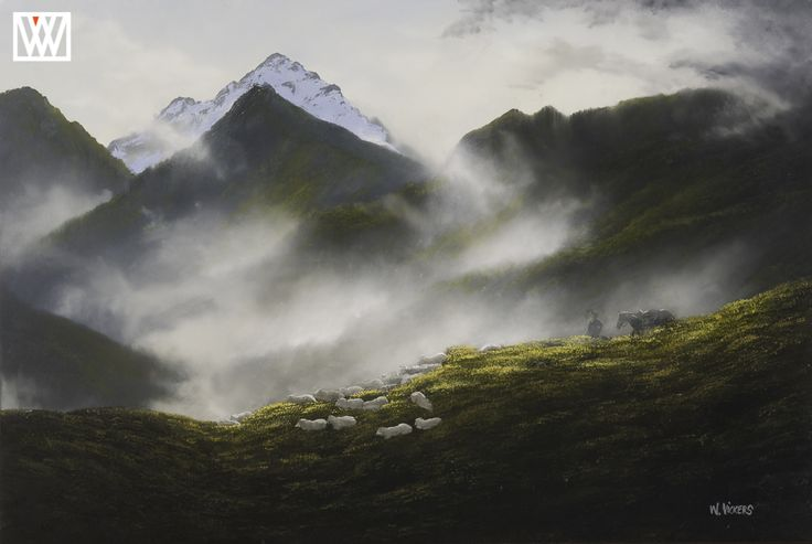Otago Muster Original Oil Painting by Wayne Vickers http://waynevickers.com/gallery
