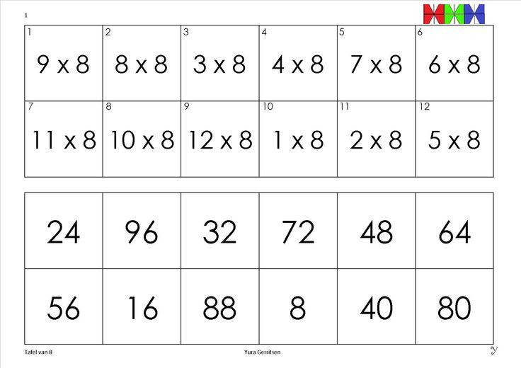 tafel van 8