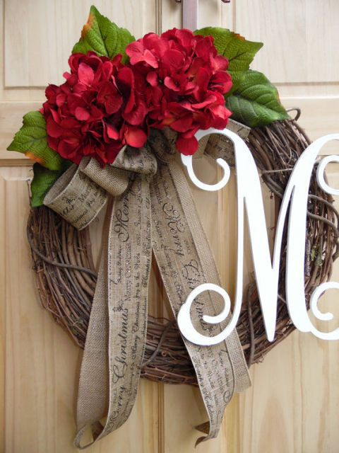 26 Perfect Personalized Gifts For The Holidays. Burlap Wreath MonogramBow  WreathSpring Wreaths For Front Door ...