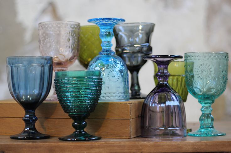 Colored Vintage Goblets