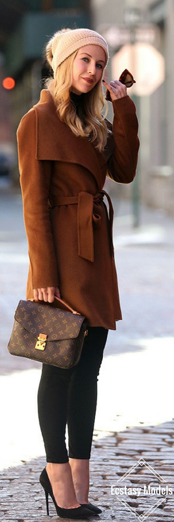 Coat from Tahari // Fashion Look by Brooklyn Blonde