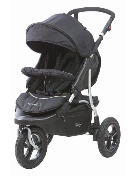Enjoy taking your baby out on shopping trips or to the park with this Terrain three-wheel stroller from Steelcraft.