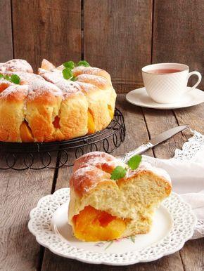 Пирог с персиками пошаговый рецепт с фотографиями