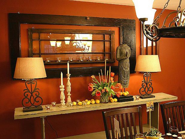 burnt orange dining room paint inspiration pinterest gardens old world and window. Black Bedroom Furniture Sets. Home Design Ideas