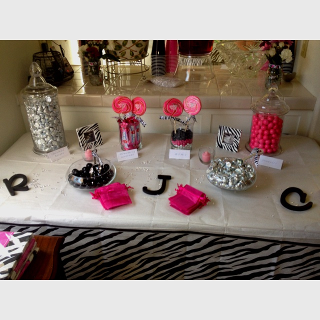 Hot Pink Zebra Bathroom Accessories: Hot Pink And Zebra Print Theme Baby Shower. All Candy