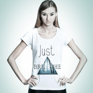 Just Breathe #tshirt from #PornCorn.  #Awesome #tshirts by #NOH8 Syndicate! Be #original and in #fashion!