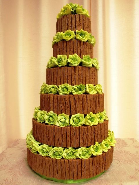 chocolate flake wedding cake by cakes from the sweetest thing (Susan), via Flickr