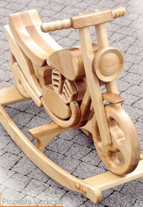 Schaukelmotorrad, Holzmotorrad, Schaukelpferd CROSS!!