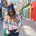 Carnaby colors  , vintage en Camisas / Blusas, Asos en Pañuelos / Bufandas / Echarpes, primark Londres en Bolsos, Topshop en Jeans, office en Tacones / Plataformas