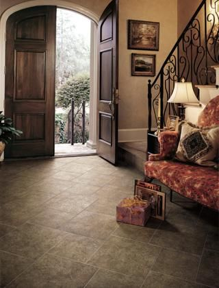 living rooms with dark tile floor | Picture: Living room floor tile provided by Phoneix tile installation ...