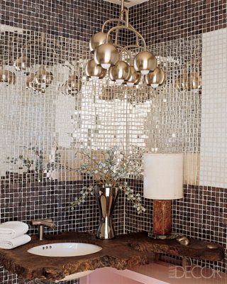 mirrored tiles are so chic