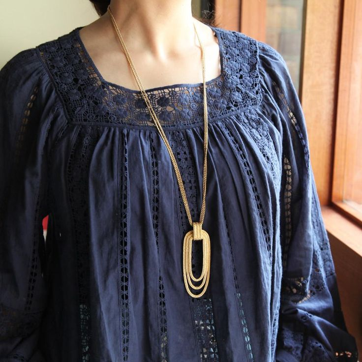 "Vintage ""MONET"" Triple Hoop Necklace (Gold) / モネ・ヴィンテージネックレス"