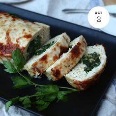 Oatober — Spinach Stuffed Turkey Meatloaf INGREDIENTS: 1...
