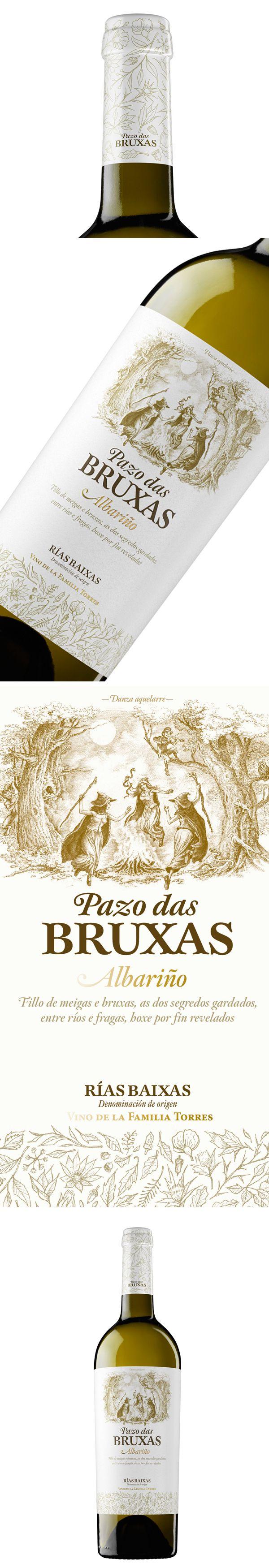 La última apuesta de Bodegas Torres es Pazo das Bruxas, un albariño premium elaborado en Galicia con Denominación de Origen Rías Baixas.  Este vino es un homenaje a la tradición y a la naturaleza de Galicia, tierra de grandes bosques habitados por meigas o brujas gallegas y seres mágicos.  Las cepas de albariño que dan vida a Pazo das Bruxas son el mejor fruto de esta tierra. Por ello, el diseño de la nueva botella es sobrio y elegante. wine / vinho / vino PD