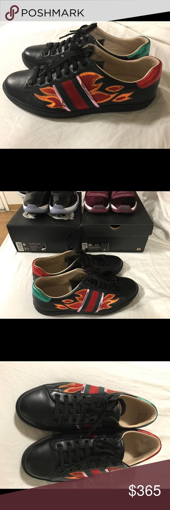 Gucci flame ace sneaker size 9 Gucci flame ace sneaker size 9 . Message me if you want I will send you my number and we can do p ay pal Gucci Shoes Sneakers