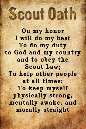 Divine image intended for boy scout oath printable