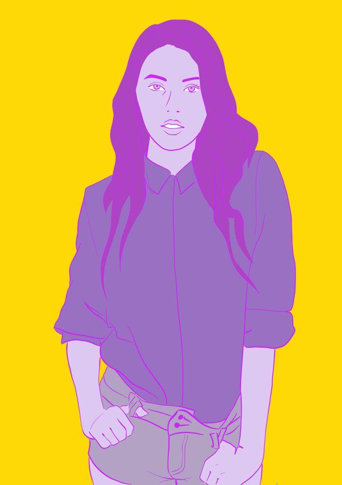 Modeillustration von Carola Koberstein   #illustration #mode #popart #illustratorin