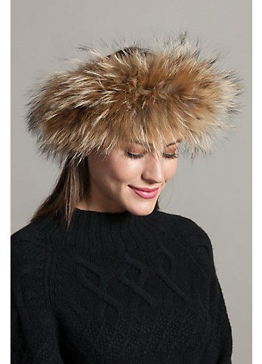 83e72cf5edd64e Finn Raccoon Fur Headband | Fashionista_Boho Chic | Fur headband ...