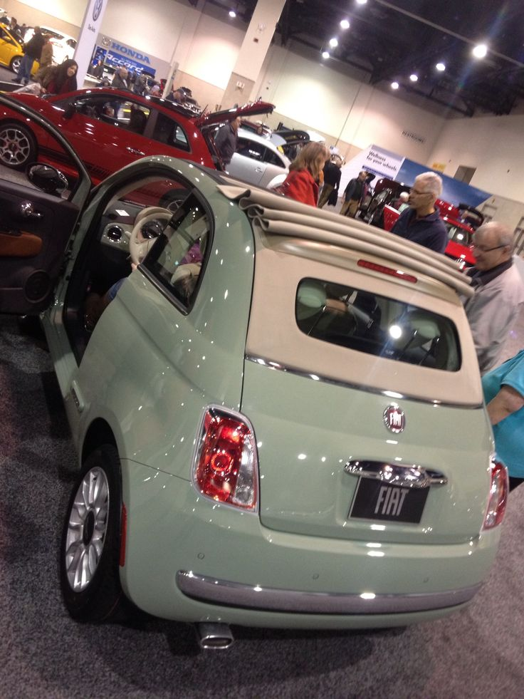 Old school on a brand new Fiat 500 <3