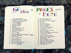 Idees de pages bullet journal Plus