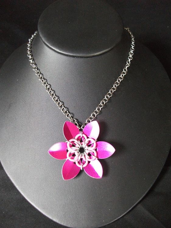 Scale Flower Necklace Available on TRADE through Trad. Commerce Exchange! http://tandcglobal.com