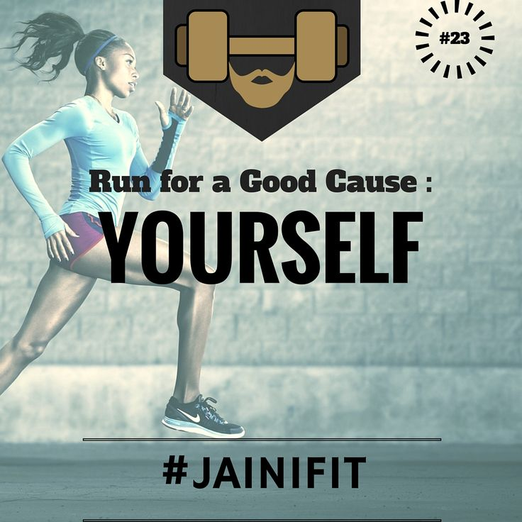 """""""Run for a good cause: YOURSELF"""" #jainifit #motivationalquotes #23 #sweat #fitfam #fitspo #fitness #mcm #gymtime #treadmill #gainz #workout #getstrong #wcw #getfit #justdoit #youcandoit #fitinspiration #bodybuilding #cardio #ripped #gym #geekabs #shredded #abs #sixpacks #muscles #strong #lift #commitment"""