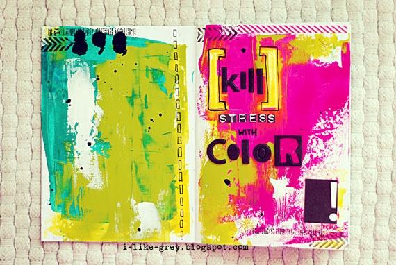 Album cover, paint, aqua, green, yellow, pinkAlbum Covers, Journals Inspiration, Kill Stress, Journals Mixed Media, Search, Media Art, Art Journals Doodles, Creative Journals, Aqua