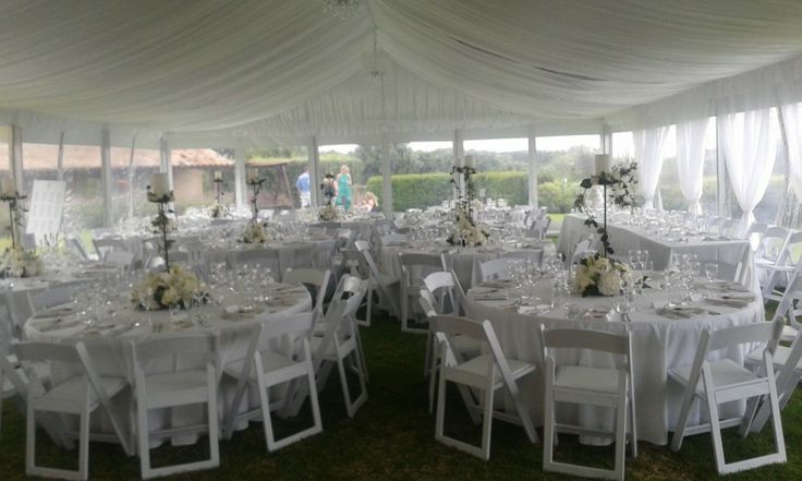 Private home venue, with marquee