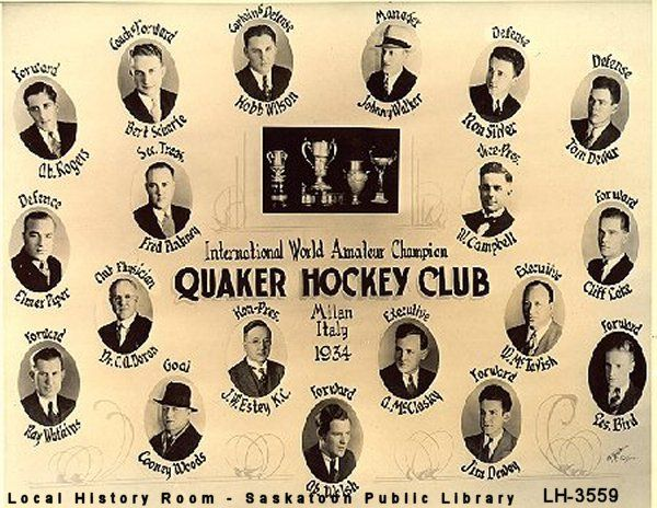 dewey saskatoon quakers 1934 - Google Search