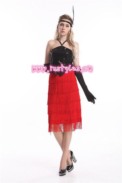Free shipping Ladies 1920s Flapper Costume Sexy Womens 20's Fancy Dress Outfit zy419 purple black flapper dress